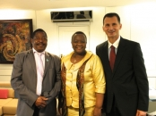 Minister of trade of the Republic of Botswana Dorcus Makgato Malesu and Prof. Dragan Primorac