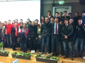 Dragan Primorac with students from the University of Rijeka