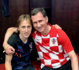 Prof. Dragan Primorac with a dear friend Luka Modrić, who won Golden Ball during 2018 World Cup
