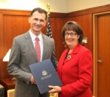 US Ambassador in Sarajevo, Maureen E. Cormack presented a special award to Dragan Primorac