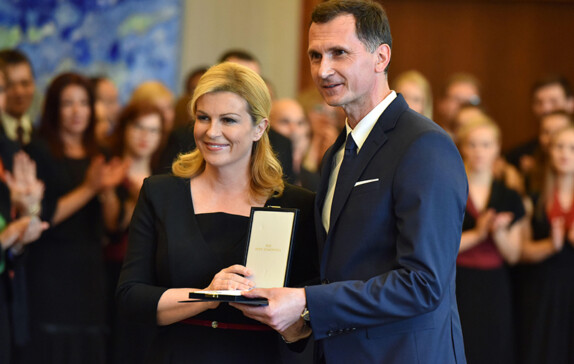 DRAGAN PRIMORAC HAS BEEN AWARDED WITH THE HIGH STATE DECORATION OF THE ORDER OF ANTE STARCEVIC