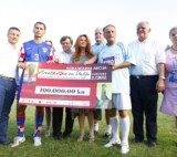 Prof. Primorac leaded the team of CRO UNUM Charitable Society at the humanitarian football match in Vukovar