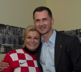Dragan Primorac with the president of the Croatia Kolinda Grabar-Kitarovic