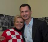 Dragan Primorac with the president of the Croatia Kolinda Grabar-Kitarovic