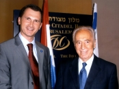 Dragan Primorac and President Shimon Peres